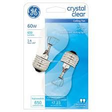 ge electric ceiling fan light bulb 60 watt