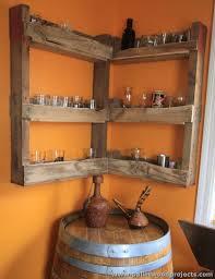 pallet corner shelf pallet wood projects