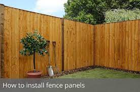 how to install fence panels waltons