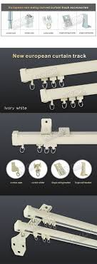 metal curtain track accessories remarkable kyok double rod factoryelectric