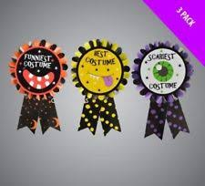 Halloween Costume Awards 3 Pack Halloween Best Funniest Scariest Costume Awards Ribbon Winner