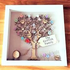 family tree wall hanging frame picture homemade wood pict