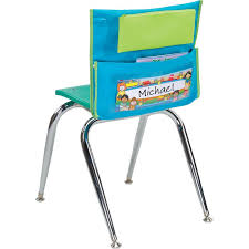classroom chair back. store more® deluxe early childhood chair pocket - set of 6 classroom back r