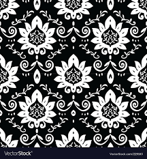 Vine Pattern Awesome Daisy And Vine Pattern Royalty Free Vector Image