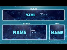 Youtube Template Psd Free Youtube Banner Template Photoshop Banner Logo