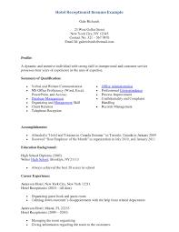 Sample Medical Receptionist Resumes Front Office Receptionist Desk Resume Samplebusinessresume