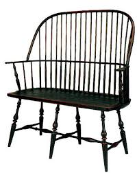 Windsor Bench Antique Wooden Bench E13