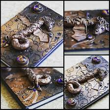 polymer clay dragon book cover by schlammkrabbe