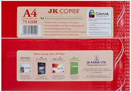 Jk Copier Paper A4 500 Sheets 75 Gsm 1 Ream Amazon In