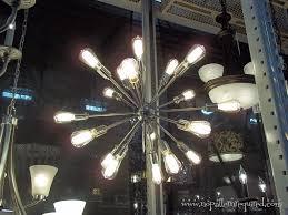 18 light starburst chandelier