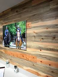 rustic wood accent walls are a great