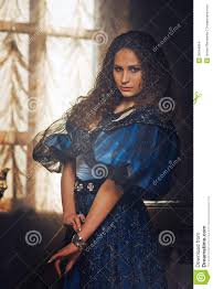 beautiful women in the clothing of the th century stock photo  beautiful women in the clothing of the 18th century