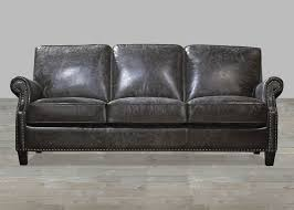 Charcoal Top Grain Vintage Leather Sofa