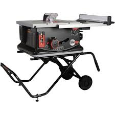 portable table saw. sawstop jss-mca 120v 1.5 hp 15 amp 10 in. jobsite portable table saw with stand l