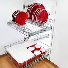 stainless steel pull out plate rack for