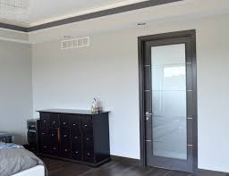 modern frosted glass bedroom door design