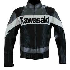 kawasaki black motorcycle jacket