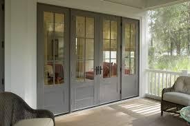 ag millworks bi folding wood clad patio door