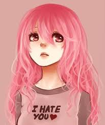 Image result for pink hair anime girl