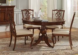 dining table 5 pc. ansley manor round pedestal table 5 piece dining set in cinnamon finish by liberty furniture - 577-p7070 pc