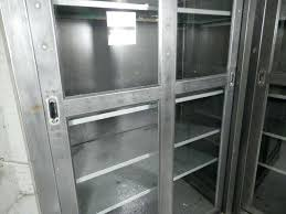 metal cabinet with glass doors metal glass cabinet doors single industrial metal cabinet w sliding glass