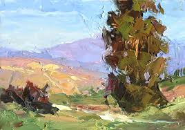 plein air oil painting by tom brown this painting was done exclusively with a palette knife during an outdoor work i conducted for other artists