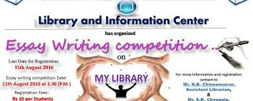 essay writing competition on my library kle dr m s sheshgiri  essay writing competition on my library kle dr m s sheshgiri college of engineering and technology