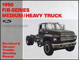 ford truck cab foldout wiring diagram f f f ft 1990 ford f b c 600 8000 medium heavy truck electrical troubleshooting manual