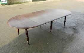 extending round antique oak table 9ft round formed drop leaf extending oak dining table