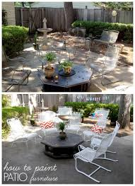 rusty how to paint patio furniture