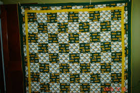 Green Bay Packers Quilt Done & Attached Images Adamdwight.com