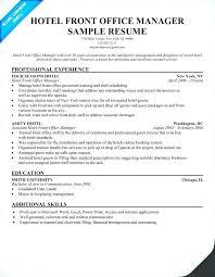Sample Resume For Hotel New Hotel Agent Resume Hotel Front Desk