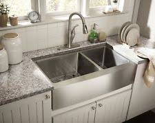 porcelain farmhouse sink. Zuhne Farmhouse Apron Double Bowl 16 Gauge Stainless Steel Kitchen Sink On Porcelain