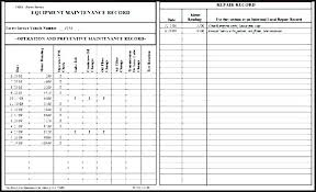 Video Log Template Machine Maintenance Log Template Preventive Schedule Sheet