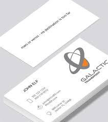 Galactic Transport Business Card Modern Design