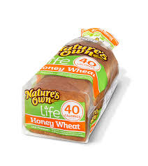 40 Calories Honey Wheat Natures Own Bread