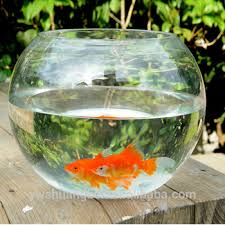Decorative Fish Bowls Wholesale Cheap Beautiful Round Borosilicate Glass Fish Bowl 65