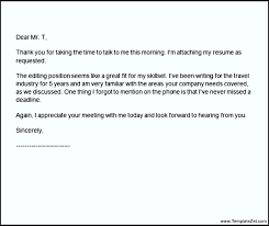 Thank You Letter After Phone Interview Subject Line | Templatezet