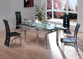 Modern Glass Dining Table Dining Table Sets Six Grey Chair Contemporary Room Set Modern Six