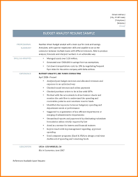 8 Budget Analyst Resume Mla Cover Page