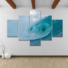 amusing surf wall art home designing inspiration nicola lugo canvas 5 piece basement stickers uk