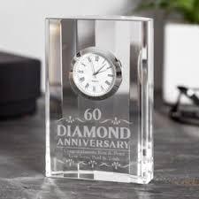 end diamond wedding anniversary mantel clock image