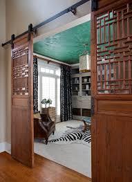alpharetta home office with barn door entry jennifer reynolds interior design