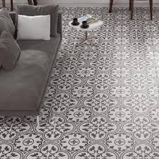 Black And White Patterned Floor Tiles Inspiration Patterned Floor Tile Tiles Porcelain 48 Wickes Cheap Osabelurios