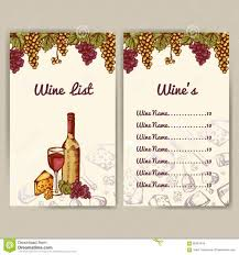 Free Wine List Template Download Wine List Template Free Wine List Menu Template Wine List Menu