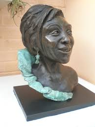 Sculpture: 'Dame Shirley Bassey(bronze)' by sculptor Linda Preece in Portrait Sculptures / Commission Sculptures - Garden Sculpture for sale ... - sculpture_artwork_linda_preece_dame_shirley_bassey_2