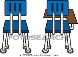 classroom chairs clipart. Fine Clipart Back Of Classroom Chairs With And Without Desk Intended Classroom Chairs Clipart A