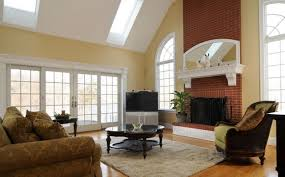 modern living room with brick fireplace. Red Brick Wall For Living Room Fireplace Interior Design Modern With