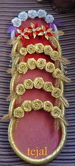 Indian Wedding Tray Decoration beautiful indian wedding tray with 100 golden roses on it 66