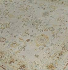 oushak rug beige blue gold and green oushak